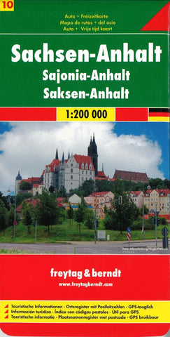 Buy map Germany, Saxony-Anhalt by Freytag-Berndt und Artaria