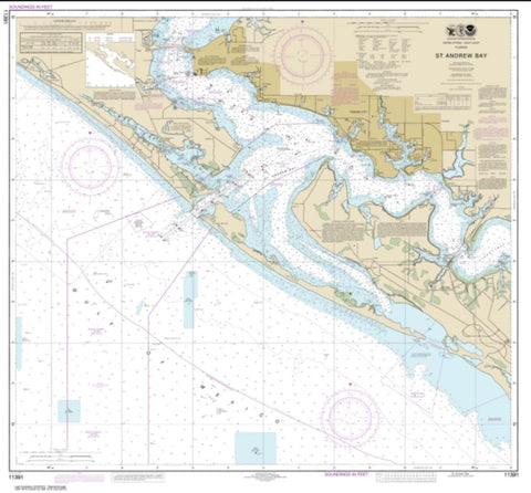 Buy map St. Andrew Bay (11391-25) by NOAA