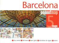 Buy map Barelona, Spain PopOut 5 Maps by PopOut Products, Compass Maps Ltd.