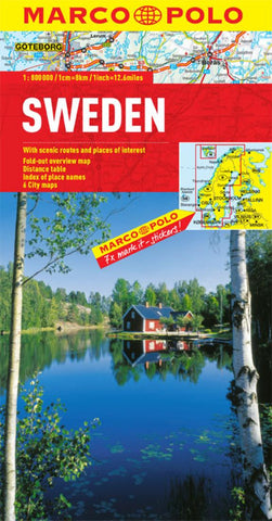 Buy map Sweden by Marco Polo Travel Publishing Ltd