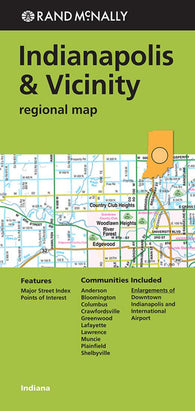 Buy map Indianapolis, Indiana and Vicinity Regional by Rand McNally