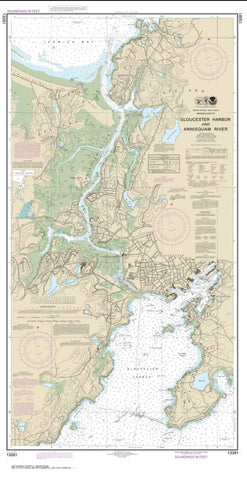 Buy map Gloucester Harbor and Annisquam River (13281-19) by NOAA