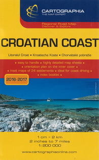 Buy map Croatian Coast Regional Road Map by Cartographia