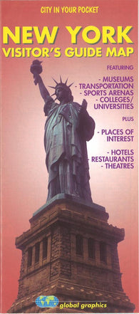Buy map New York, Vistors Guide Map by Global Graphics