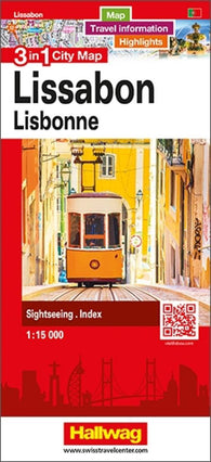 Buy map Lisbon 3 in 1 City Map by Hallwag