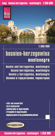 Buy map Bosnia-Herzegovina and Montenegro by Reise Know-How Verlag