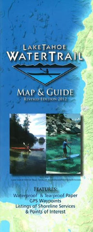 Buy map Lake Tahoe Water Trail Map and Guide by Adventure Maps