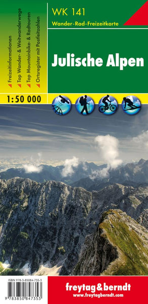Buy map Julische Alpen, WK 141 by Freytag-Berndt und Artaria