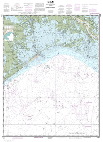 Buy map Barataria Bay and approaches (11358-58) by NOAA