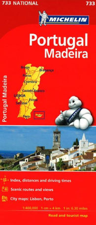 Buy map Portugal with Madeira (733) by Michelin Maps and Guides