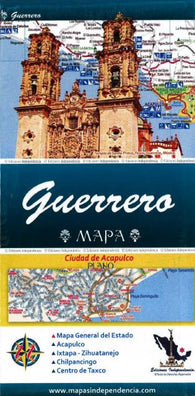 Buy map Guerrero, Mexico, State and Major Cities Map by Ediciones Independencia