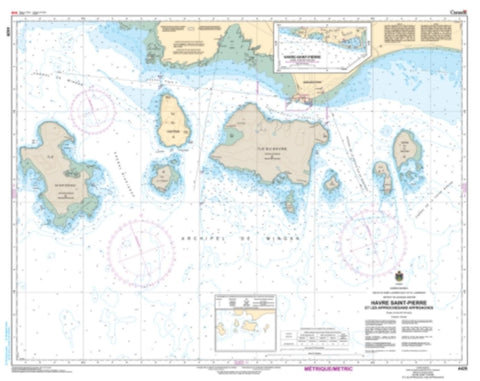 Buy map Havre Saint-Pierre et les Approches/and Approaches by Canadian Hydrographic Service