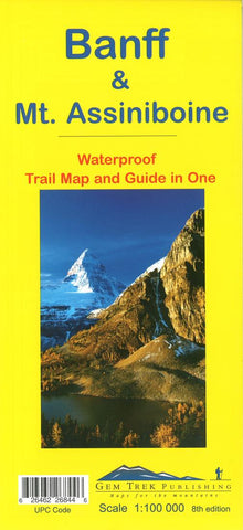 Buy map Banff National Park & Mount Assiniboine Trail Map and Guide in One by Gem Trek