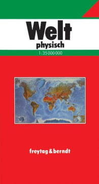 Buy map World, Physical, German edition by Freytag-Berndt und Artaria