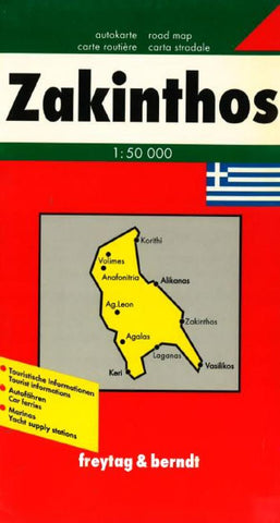 Buy map Zakynthos, Greece by Freytag-Berndt und Artaria