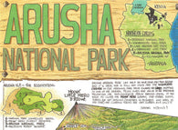 Buy map Arusha National Park and Mount Meru by GT Maps