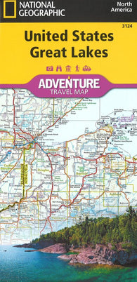 Buy map U.S. Great Lakes Adventure Map (3124) by National Geographic Maps