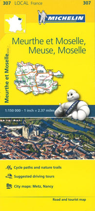 Buy map Michelin: Meurthe-et-Moselle, Meuse, Moselle Road and Tourist Map by Michelin Travel Partner