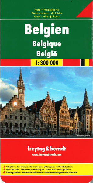 Buy map Belgium by Freytag-Berndt und Artaria
