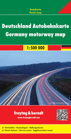 Buy map Germany Motorway Map by Freytag-Berndt und Artaria