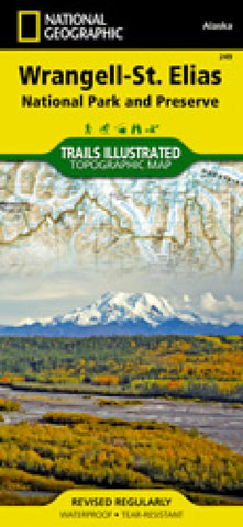 Buy map Wrangell, St. Elias National Park, AK by National Geographic Maps