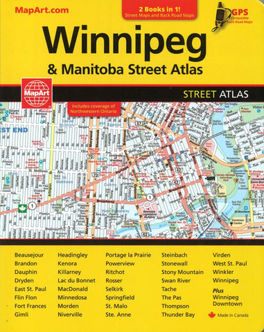 Buy map Winnipeg and Manitoba Street Atlas & Manitoba Back Road Atlas by MapArt Publishing, Canadian Cartographics Corporation