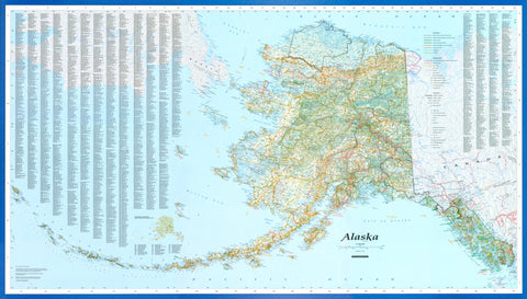 Buy map Alaska, laminated by Imus Geographics