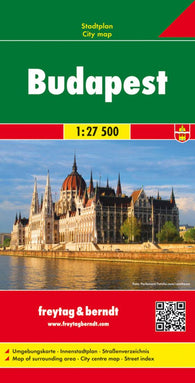 Buy map Budapest, Hungary by Freytag-Berndt und Artaria