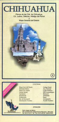 Buy map Chihuahua, Mexico, State and Major Cities Map by Ediciones Independencia