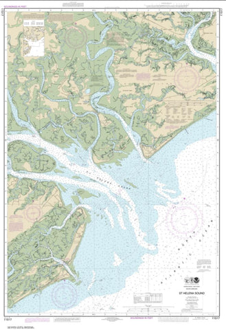 Buy map St. Helena Sound (11517-18) by NOAA