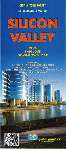 Buy map Silicon Valley, California by Global Graphics