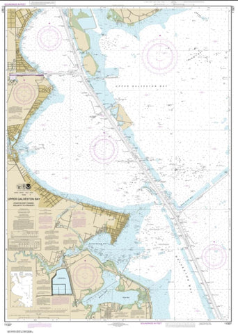 Buy map Upper Galveston Bay-Houston Ship Channel-Dollar Pt. to Atkinson (11327-36) by NOAA