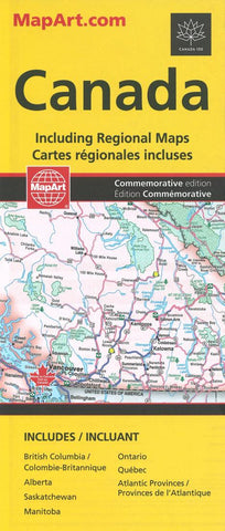 buy map canada road map by mapart publishing