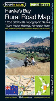 Buy map Hawkes Bay, New Zealand, Rural Roads Topographic Map by Kiwi Maps