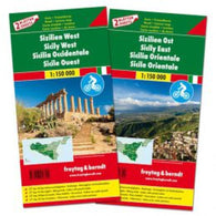 Buy map Sicily Map Pack, East and West + Top 10 Booklet by Freytag und Berndt