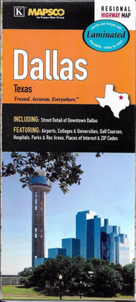 Buy map Dallas, Texas, laminated by Kappa Map Group