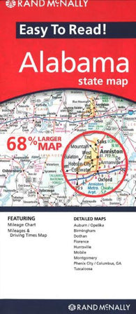Buy map Alabama by Rand McNally