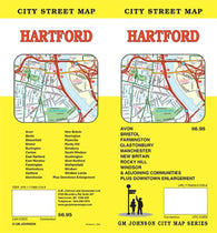 Buy map Hartford, Connecticut by GM Johnson