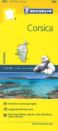 Buy map Corsica (345) by Michelin Maps and Guides