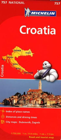 Buy map Croatia (757) by Michelin Maps and Guides