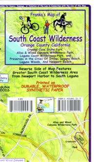 Buy map South Coast Wilderness, Orange Co, California Trails by Frankos Maps Ltd.