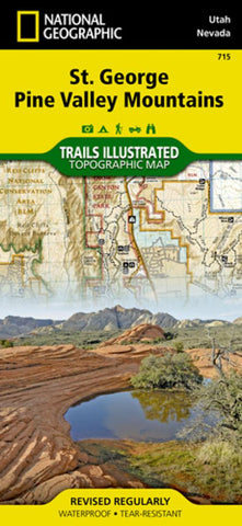 Buy map St George, Pine Valley Mountains, Map 715 by National Geographic Maps