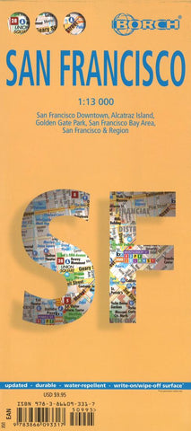 Buy map San Francisco, California by Borch GmbH.