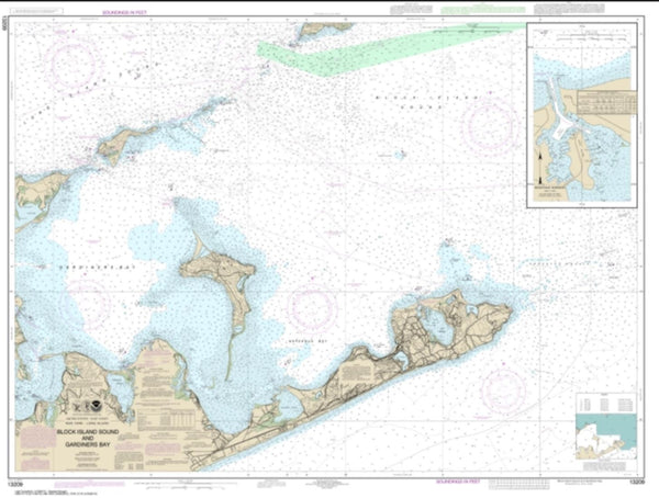 Buy map Block Island Sound and Gardiners Bay; Montauk Harbor (13209-27) by NOAA