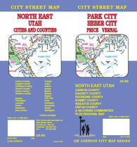 Buy map Park City, Heber City, Price and Vernal, Utah by GM Johnson