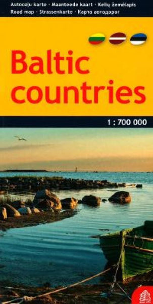 Buy map Baltic Countries, road map by Jana Seta