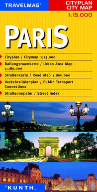 Buy map Paris, France by Kunth Verlag