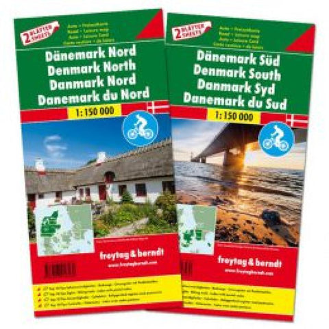 Buy map Denmark Map Pack, North and South + Top 10 Tips by Freytag-Berndt und Artaria