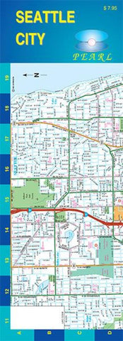 Buy map Seattle, Washington, Pearl Map, laminated by GM Johnson