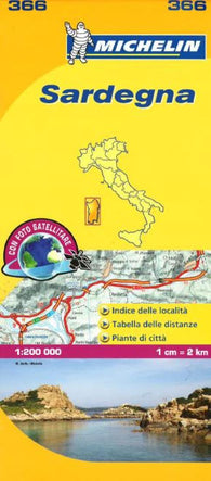 Buy map Sardinia, Italy (366) by Michelin Maps and Guides